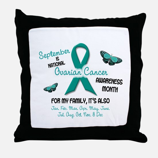 Ovarian Cancer Awareness Month 2.2 Throw Pillow