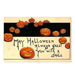 Halloween Greetings Postcards (Package of 8)