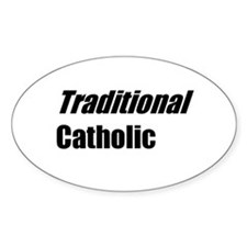 TheAngryCatholic - Traditional - Oval Decal
