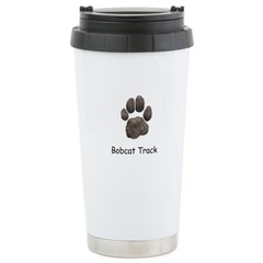 Real Bobcat Track Travel Mug