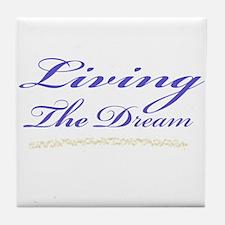 Living the Dream Stars Tile Coaster