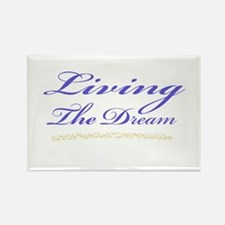 Living the Dream Stars Rectangle Magnet