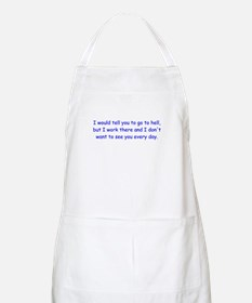 I Work There BBQ Apron