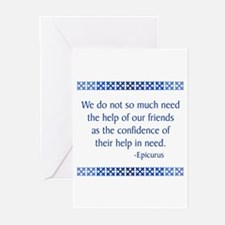Epicurus Greeting Cards (Pk of 10)