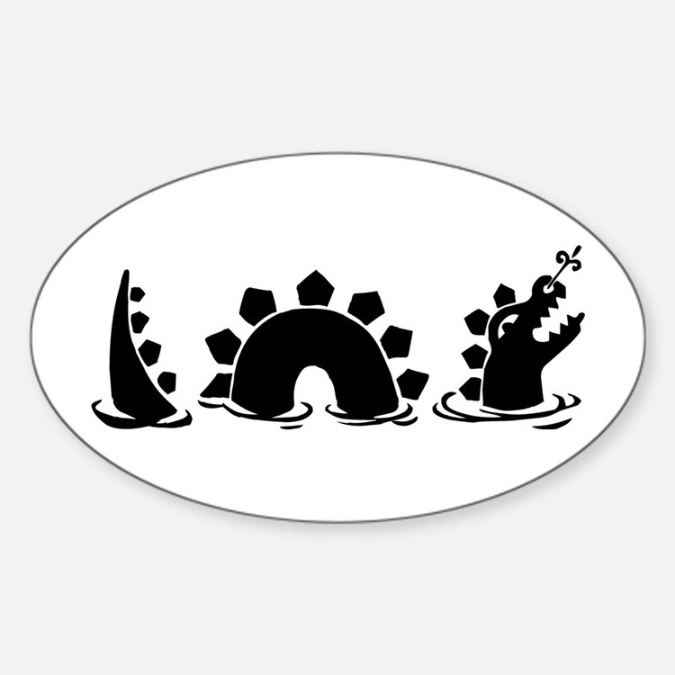 Sea Monster Oval Stickers