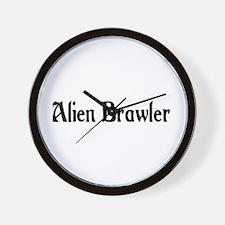 Alien Brawler Wall Clock