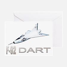 XF-92 / F-92 Dart Greeting Card