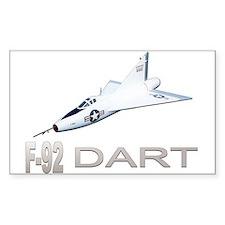 XF-92 / F-92 Dart Rectangle Decal
