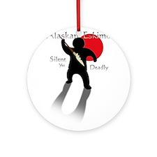 Silent Yet Deadly Eskimo Ornament (Round)