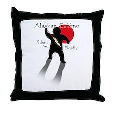 Silent Yet Deadly Eskimo Throw Pillow