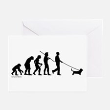 Basset Evolution Greeting Cards (Pk of 20)