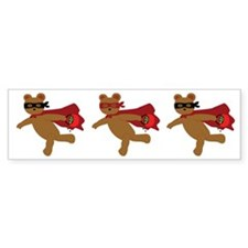 Masked Bear Bumper Bumper Sticker