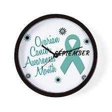 Ovarian Cancer Awareness Month 1.1 Wall Clock