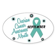 Ovarian Cancer Awareness Month 1.1 Oval Decal