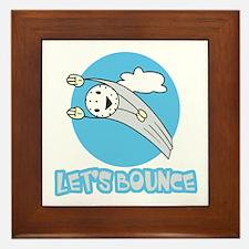 Let's Bounce Golf Ball Framed Tile