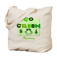 Go Green Wyoming Reusable Tote Bag