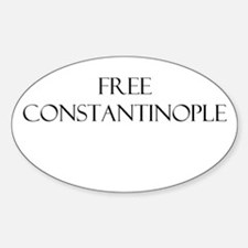 TheAngryCatholic - Constantine Oval Decal