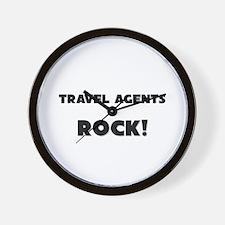 Travel Agents ROCK Wall Clock