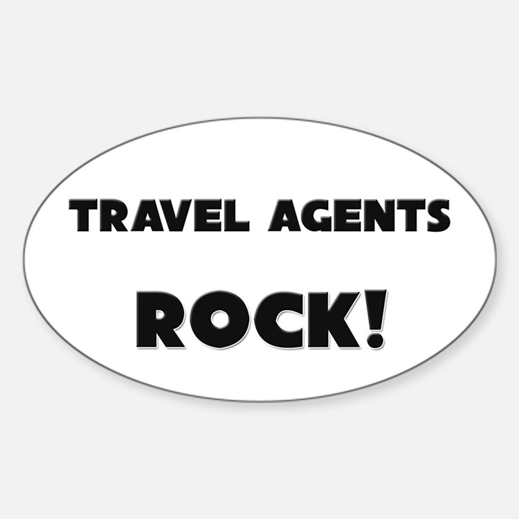 Travel Agents ROCK Oval Decal