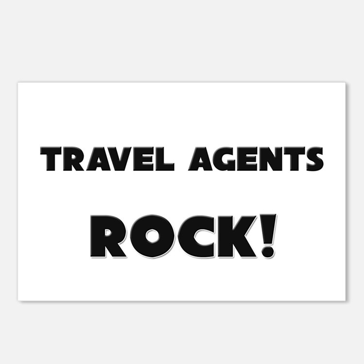Travel Agents ROCK Postcards (Package of 8)