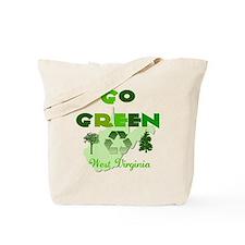 Go Green West Virginia Reusable Tote Bag