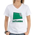 Let's Bounce Dice (Die) Women's V-Neck T-Shirt