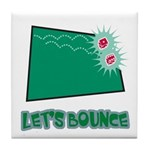 Let's Bounce Dice (Die) Tile Coaster