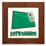 Let's Bounce Dice (Die) Framed Tile