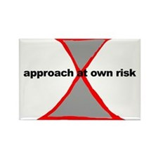 Approach At Own Risk Rectangle Magnet