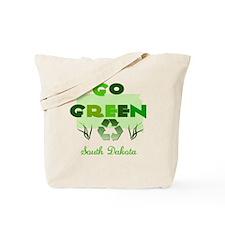 Go Green South Dakota Reusable Tote Bag