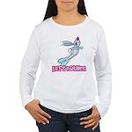 Let's Bounce Bunny Rabbit Women's Long Sleeve T-Sh