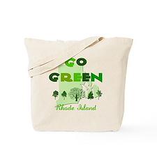 Go Green Rhode Island Reusable Tote Bag