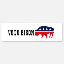 Bison Party bumper sticker