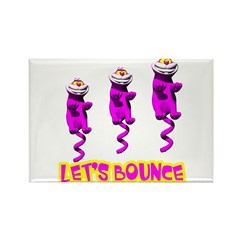 Let's Bounce Kitty Cat Rectangle Magnet (100 pack)