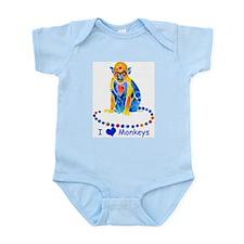 I Love Monkeys Infant Bodysuit
