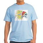 Indian Chief Skull Tattoo Light T-Shirt