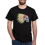 Indian Chief Skull Tattoo (Front) Dark T-Shirt