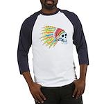 Indian Chief Skull Tattoo (Front) Baseball Jersey