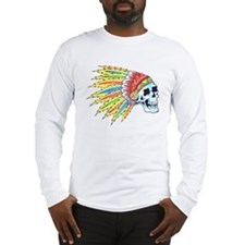 Indian Chief Skull Tattoo Long Sleeve T-Shirt
