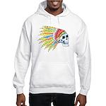 Indian Chief Skull Tattoo Hooded Sweatshirt