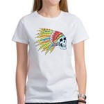 Indian Chief Skull Tattoo (Front) Women's T-Shirt
