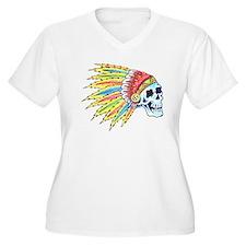 Indian Chief Skull Tattoo T-Shirt
