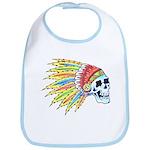 Indian Chief Skull Tattoo Bib