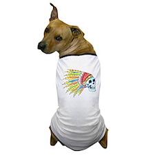 Indian Chief Skull Tattoo Dog T-Shirt