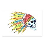 Indian Chief Skull Tattoo Postcards (Package of 8)