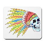 Indian Chief Skull Tattoo Mousepad