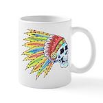 Indian Chief Skull Tattoo Mug