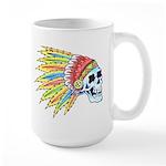 Indian Chief Skull Tattoo Large Mug