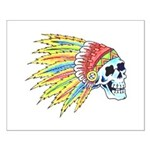 Indian Chief Skull Tattoo Small Poster