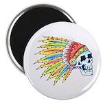 Indian Chief Skull Tattoo Magnet